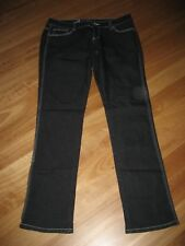 LADIES CUTE DARK BLUE/BLACK POLYCOTTON DENIM JEANS BY GIRLS EXPRESS SIZE 14