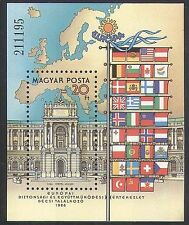 Hungary 1986 European Security/Palace/Buildings/Architecture/Flags 1v m/s n35544
