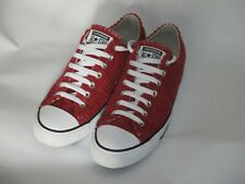 CONVERSE Chuck Taylor OX Back Alley Red Cord 9.5 Boxed trainers Unisex Maroon