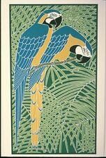 "Ikki Matsumoto ""Blue and Gold Macaws "" S/N Silkscreen w/COA-EBAY LOW-OFFER*"
