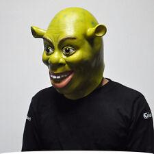 Halloween Funny Adult Cosplay Green Shrek Fancy Dress Costume Latex Mask HOT
