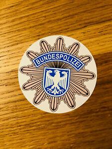 BUNDESPOLIZEI Aufkleber Sticker Auto Strafzettel DPolG GdP Plakette Stern Mi492