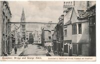 Postcard, Bridge & George Hotel, Stamford, Taylor & Downs, Lincolnshire, 1900s