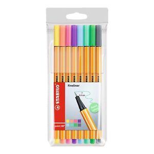Stabilo Pastel Point 88 Fineliner 0.4mm | 8 Colour Pen | Art Craft Drawing