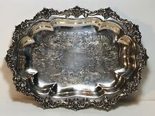 Vintage C & S Continental Silver Silverplate Serving Tray