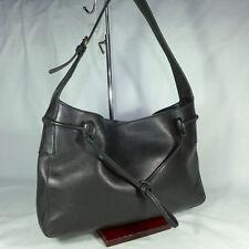 Authentic Rare Vintage Gucci Black Leather Medium Horsebit Hobo Shoulder Handbag
