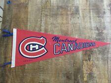 "Vintage 1970 Montreal Canadiens Habs Hockey Pennant Full Size 30"" NHL"