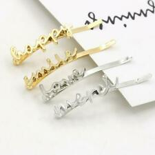 Women's Fashion Love Letter Hair Clip Hairpin Slide Grips Barrette Gold Silver