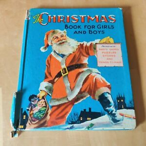 Vintage 1955 The Christmas Book For Girls And Boys Children's annual