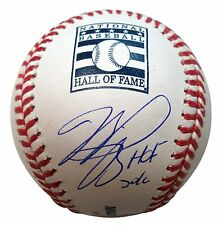 MIKE PIAZZA SIGNED OFFICIAL HALL OF FAME BASEBALL W / INSCRIPTION  MLB AUTHENTIC