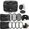 Canon EF 50mm f/1.4 USM Lens + UV CPL Filter Kit for Canon T7 T7i T4i