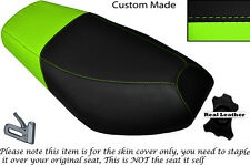BLACK & LIGHT GREEN CUSTOM FITS CPI OLIVER SPORT 50 DUAL LEATHER SEAT COVER ONLY