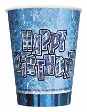 Pack of 8 Blue Happy Birthday Party CupsTable ware Decorations