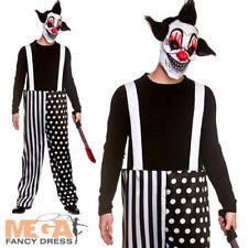 Sinister Clown Mens Fancy Dress Horror Circus Adults Halloween Costume Outfit