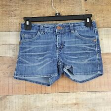 Levi's Shorty Shorts Girl's Size 10 Reg Blue Denim Adjustable Waistband TL6