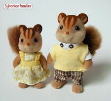 Sylvanian Families Family JP Squrriel Brother And Sister 2pc Rare