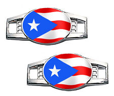 Puerto Rico Flag Shoe Charms / Paracord Charms (Waving)