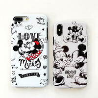 Cute Disney Minnie Mouse Couple Soft Case Cover iPhone 7 8Plus X XR 11Pro XS Max