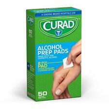 Curad Alcohol Prep Pads Swabs Sterile Individually Wrapped 50ct Box (Pack of 24)
