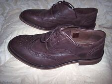 Men's ALDO Brown Leather Casual Dress Oxfords Shoes Size 10.5 - Excellent