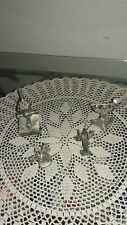 4 MINIATURE PEWTER FIGURINES,WIZARDS, DRAGON, SORCERY, RAY LAMB, PERTH PEWTER+