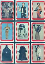 Star Wars Vintage 1977 Trading Cards Series 4 Complete 11 x Sticker Set #34-44