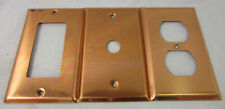 Lot of 3 VTG Copper Adjustable Light Switch, Outlet, and Other Cover, Unbranded