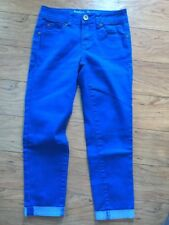 Justice 14 S Slim Girls Blue Capri Pants Cropped