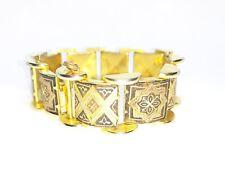 Ancien Bracelet en Or de Tolède Damacsène
