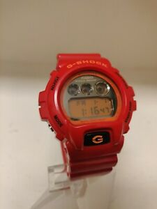 Vintage Casio G-Shock DW6900CB-4 DW-6900 Bright Red Watch Crazy Color Collection