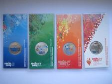 2011-2014 Russland Satz Sochi (4 Munzen Blistern - farbige, offizielle)