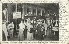 Boston MA The Herald Party In Front of the Arden Trolley Car c1905 Postcard