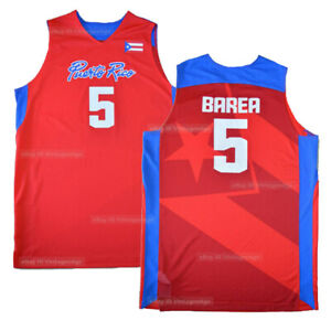 2008 Beijing Jose JJ. Barea #5 Arroyo #7 Puerto Rico Basketball Jerseys Custom