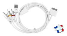 Câble adaptateur USB Dock Connecteur TV RCA Vidéo Composite AV iPhone iPad iPod