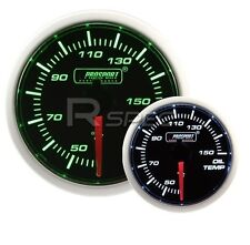 Prosport 52mm Super Smoked Green / White Oil Temperature Gauge Deg C