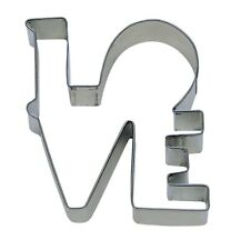 """LOVE  Cookie Cutter 4""""  Word Shape Couple Valentine Kiss Family"""