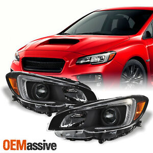 For 2015-2021 Subaru WRX OE Style Projector Headlights Black Housing Assembly