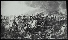 Glass Magic Lantern Slide CHARGE OF THE GUARDS C1890 DRAWING BATTLE OF WATERLOO