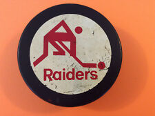 1983-84 Georgetown Raiders OHA Viceroy Hockey Puck Sr A Official 3 Seasons