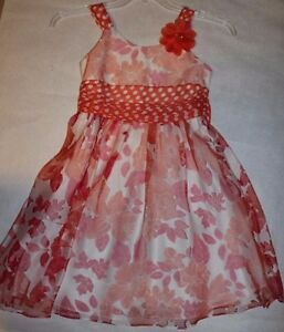 Bonnie Jean Girl's Sleeveless style floral Dress Size 10