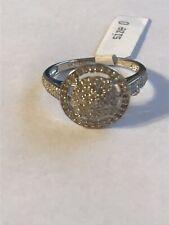 9ct White Gold 50PT Diamond Ring Size O
