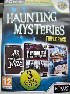 HAUNTING  MYSTERIES---TRIPLE PACK---HIDDEN OBJECT GAMES---PC DVD---MINT