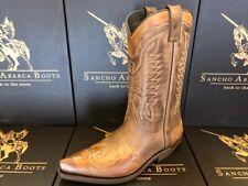 Sancho Boots Cowboystiefel Westernstiefel 5119 Braun bereits besohlt