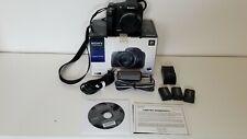 Sony Cyber-shot DSC-HX100V 16.2MP Digital Camera with 3 Batteries - Black