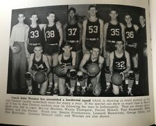 John Wooden 1941 Yearbook as a High School Coach UCLA Bruins Beautiful Condition
