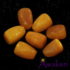 *ONE* YELLOW JADE Natural Tumbled Stone Approx 15-20mm *TRUSTED SELLER*