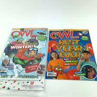Owl Magazine Dec 2019 Jan 2020 New Lot Of 2 Tech Skills Fact