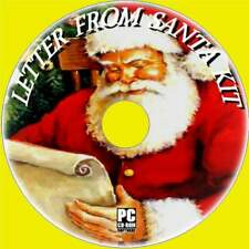 MAKE A PERSONALISED 'LETTER FROM SANTA' ARTWORK TEMPLATES SOFTWARE KIT NEW PCCD