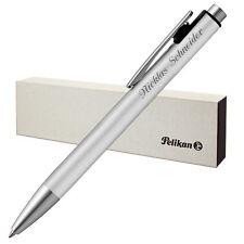 Pelikan Kugelschreiber SNAP silber matt mit Laser-Gravur aus Aluminium