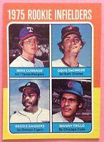1975 TOPPS #617 ROOKIE INFIELDERS/MIKE CUBBAGE RC/DOUG DECINCES RC/REGGIE SANDER